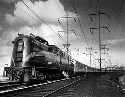 Photo of The Congressional pulled by a GG1 electric locomotive, 1965