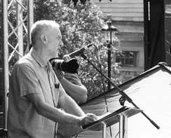 Corbyn addressing London's People's Assembly Demonstration in June 2014