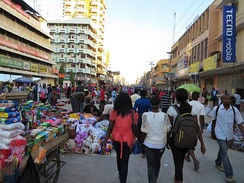 The Kariakoo market in Dar es Salaam.