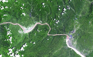 Three Gorges Dam and Gezhouba Dam, China