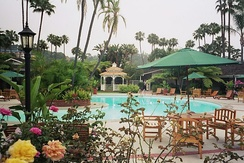 Resorts combine a hotel and a variety of recreations, such as swimming pools, as shown here in San Diego, California
