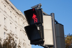 Bicycle traffic lights in Vienna