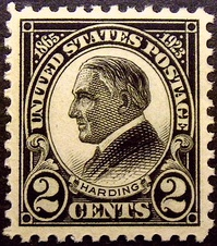 Warren G. HardingMemorial Issue of 1923  Issued only one month after death on Sep 1, 1923 in Harding's hometown of Marion