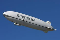 A modern airship, Zeppelin NT D-LZZF in 2010