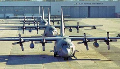 700th Airlift Squadron C-130s on the Dobbins Flightline
