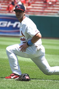 Adam Kennedy with Cardinals in 2008.
