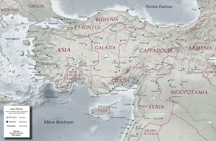 The Roman provinces of Anatolia under Trajan, including Asia.