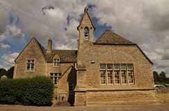 Aston and Cote Church of England Primary School in Aston, Oxfordshire, built as a National School in 1856