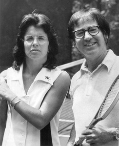 Billie Jean King and Bobby Riggs in 1973
