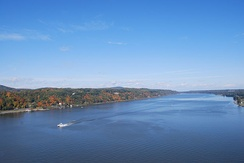 The river from Poughkeepsie, looking north.