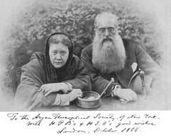 Blavatsky and Olcott, two of the founding members of the Theosophical Society