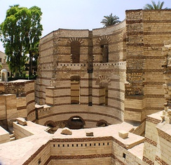 Remains of the Roman fortress of Babylon, in Old Cairo.