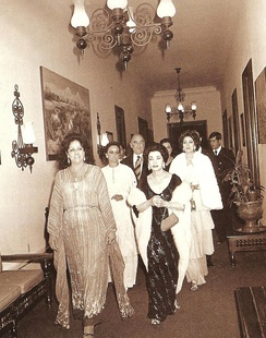 Mexican First Lady Carmen Romano and President José López Portillo accompanying Iranian Queen Consort Tadj ol-Molouk in Mexico City; 1978.