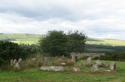 Stone circle at the Carrigagulla complex, County Cork, Ireland