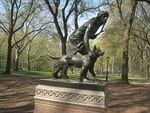 Central Park NYC - 'Indian Hunter' Statue by John Quincy Adams Ward - IMG 5710.JPG