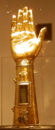 Arm reliquary of Charlemagne at Aachen Cathedral Treasury