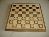 Starting position in Italian and Portuguese draughts