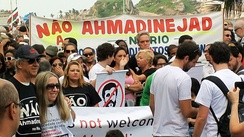 Demonstration against Ahmadinejad during the Rio+20 conference in Brazil
