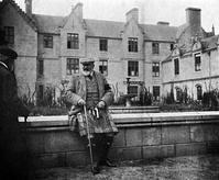 Edward VII relaxing at Balmoral Castle - photograph by his wife, Alexandra, c. 1907-1908