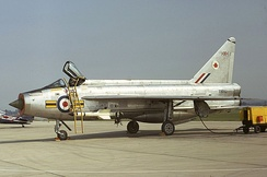 A Royal Air Force Lightning F.1A at Yeovilton, 8 September 1973