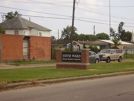 The Fifth Ward, a predominantly African American neighborhood in Houston, Texas