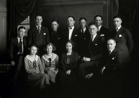 Photo of Gary Cooper and classmates at Grinnell College, 1922
