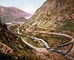 The Georgetown Loop of the Colorado Central Railroad as photographed by William Henry Jackson in 1899