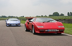 The Diablo (background) was named for a legendary bull, while the Countach (foreground) broke from the bullfighting tradition.