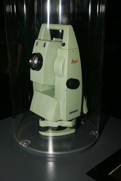 Total station used in surveying