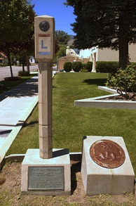 Lincoln Highway marker in Carson City, Nevada