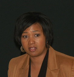 Jemison at a symposium in 2009
