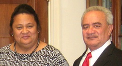 Former First Lady Mary Tulafono and former Governor Togiola Tulafono