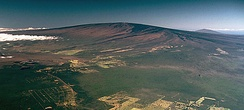 Mauna Loa is a large shield volcano. Its last eruption was in 1984 and it is part of the Hawaiian–Emperor seamount chain.