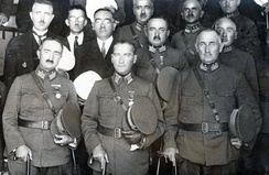 Founder President of Turkey and Commander-in-chief of Turkish Armed Forces Mareşal Mustafa Kemal Pasha (center), General Mehmet Emin Pasha (left), General Ali Sait Pasha (right) at İnebolu in 1925.