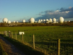 RAF Menwith Hill, a large site in the United Kingdom, part of ECHELON and the UKUSA Agreement, 2005