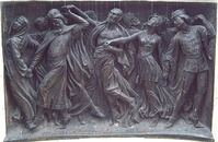 The Dance of Death. Monument to Calderón, Madrid.