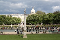 The Jardin du Luxembourg, and the Panthéon in the background
