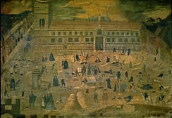 Anonymous painting illustrating the effects of the 1649 plague