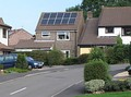 Solar panels roof-mounted on a house in Yate, South Gloucestershire, England