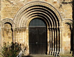 Norman doorway of St Mary's Priory Church