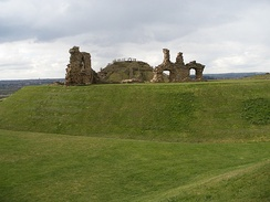 The ruins of Sandal Castle