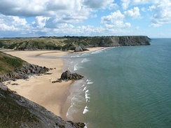 Tor Bay and Three Cliffs Bay, Gower, Swansea