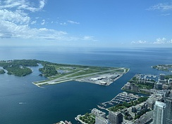 Airport as seen from the LookOut Level of the CN Tower