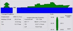 Shipboard stability computer programs can be used to calculate a vessel's displacement