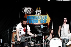 Underoath performing on the 2009 Warped Tour.