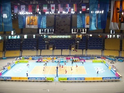 13,200 seat configuration during the 2004 Athens Summer Olympics Volleyball Tournament.