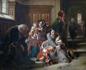 Waiting for the Verdict, Abraham Solomon, 1859