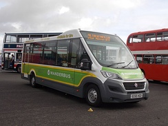 A 2016 Mellor Orion operated by Wanderbus, seen attending Showbus 2016