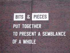 Lawrence Weiner. Bits & Pieces Put Together to Present a Semblance of a Whole, The Walker Art Center, Minneapolis, 2005.