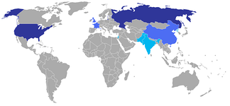 Large stockpile with global range (dark blue), smaller stockpile with global range (medium blue), small stockpile with regional range (light blue).